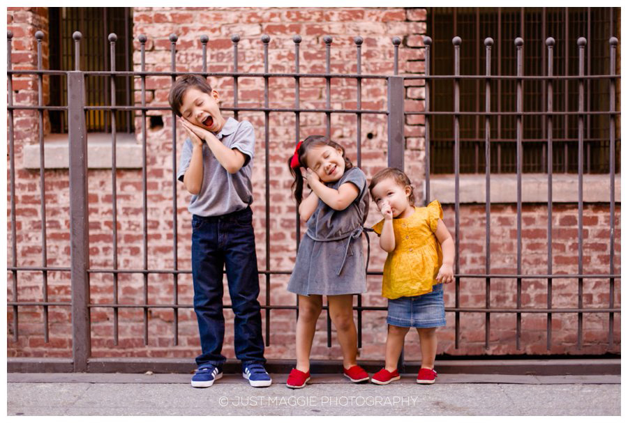 Candid sibling portraits by Just Maggie Photography - Los Angeles Family Portrait Photographer