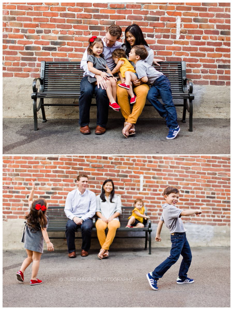 Relaxed family portraits by Just Maggie Photography - Los Angeles Family Portrait Photographer