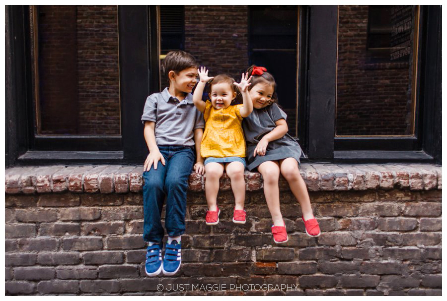 Modern sibling portraits by Just Maggie Photography - Los Angeles Family Portrait Photographer