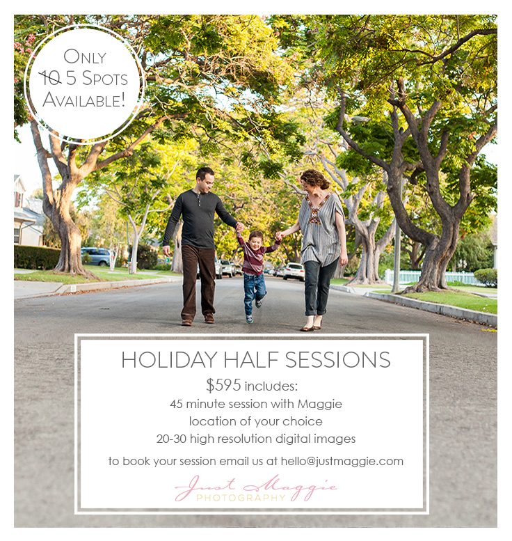 Los Angeles Holiday Portrait Photographer - Just Maggie Photography
