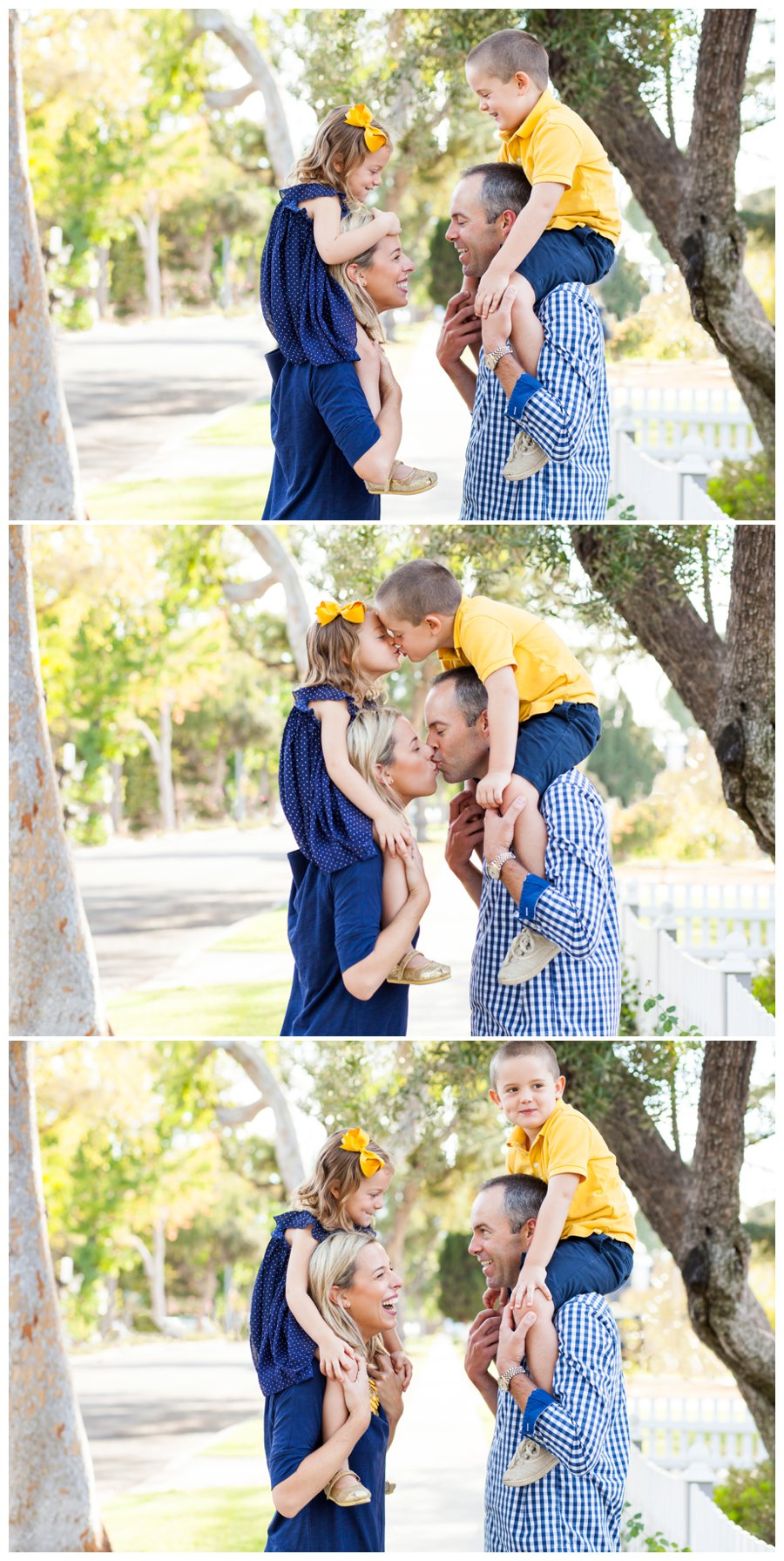 Silly family photography outdoors by Just Maggie Photography -- Los Angeles Family Photographer