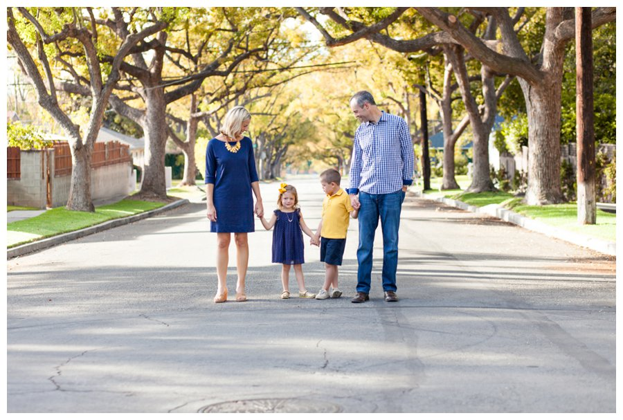 Modern family portrait photography in Pasadena neighborhood by Just Maggie Photography -- Pasadena Family Photographer