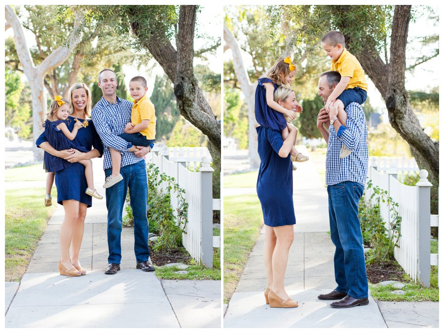 Casual family portraits in Pasadena neighborhood by Just Maggie Photography -- Los Angeles Family Photographer