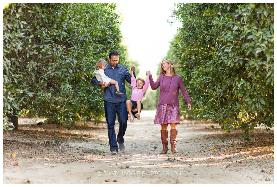 Candid family portraits outdoors by Just Maggie Photography - Santa Clarita Family Portrait Photographer
