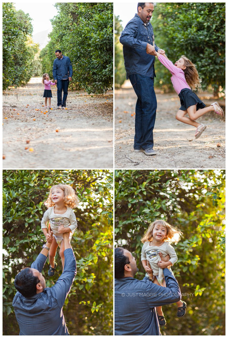 Daddy and daughter family portrait photography by Just Maggie Photography - Santa Clarita Family Portrait Photographer