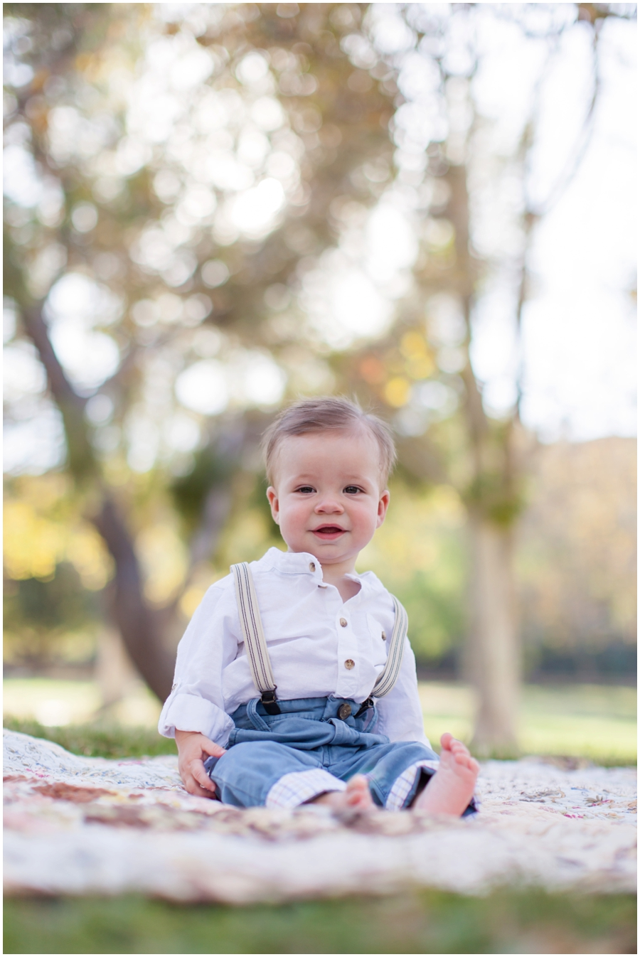 9 month old baby portraits in the park by just maggie photography los angeles babys
