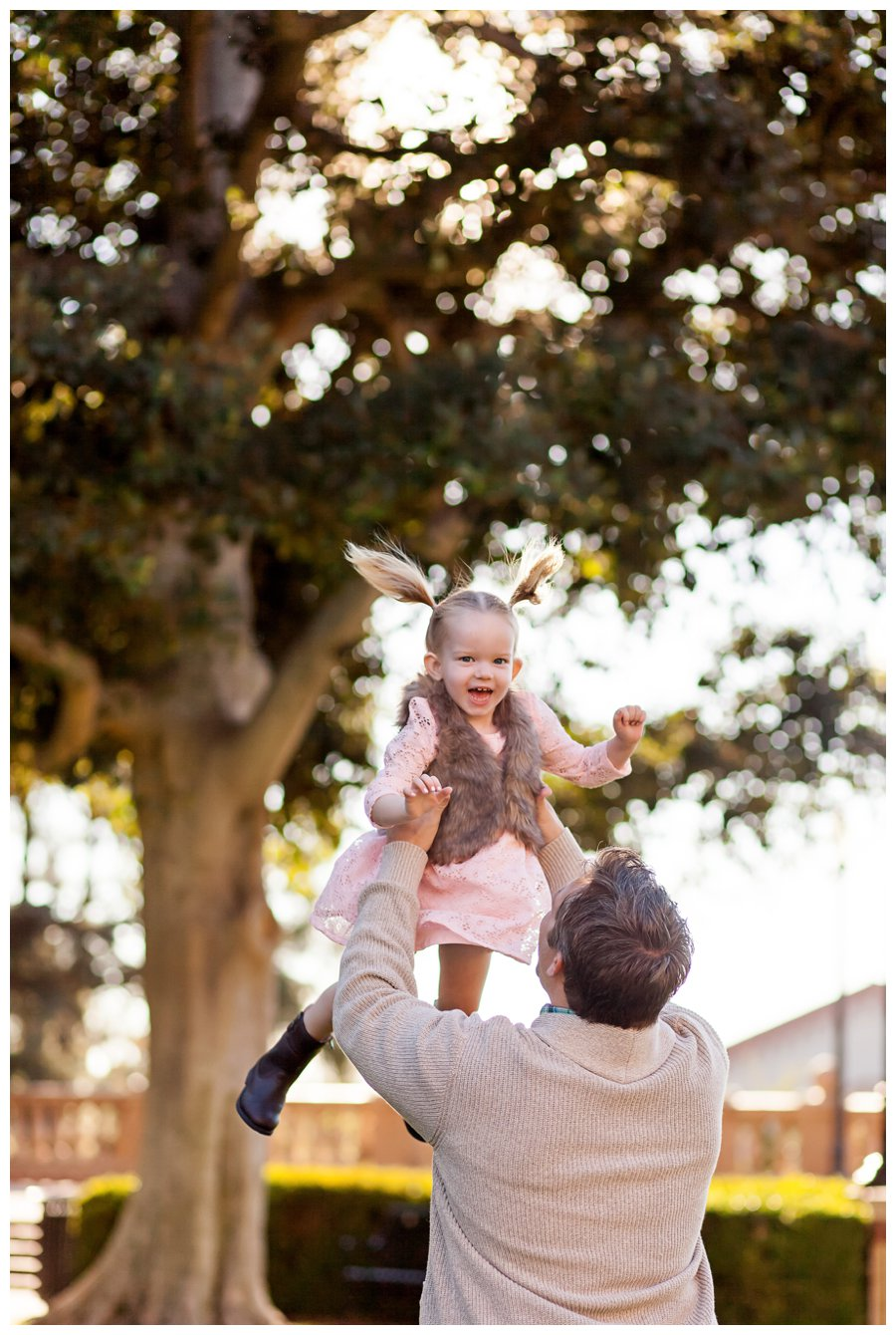 Candid dad and daughter portrait by Just Maggie Photography -- Los Angeles Family Photographer