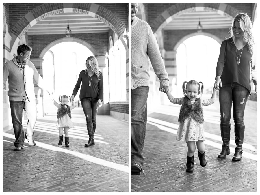 Modern family photography with UCLA architecture by Just Maggie Photography -- Los Angeles Family Photographer