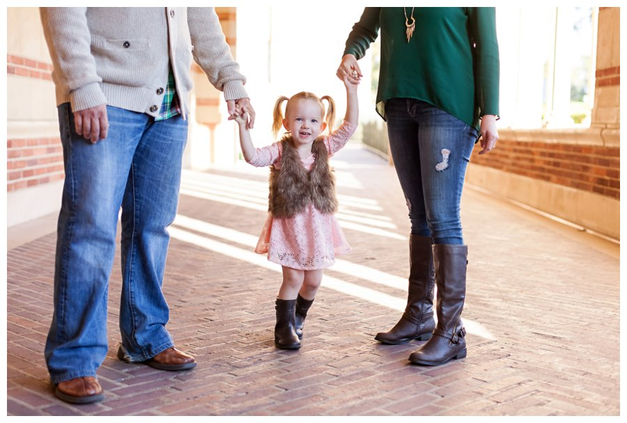 Modern family holiday portraits by Just Maggie Photography -- Los Angeles Family Photographer