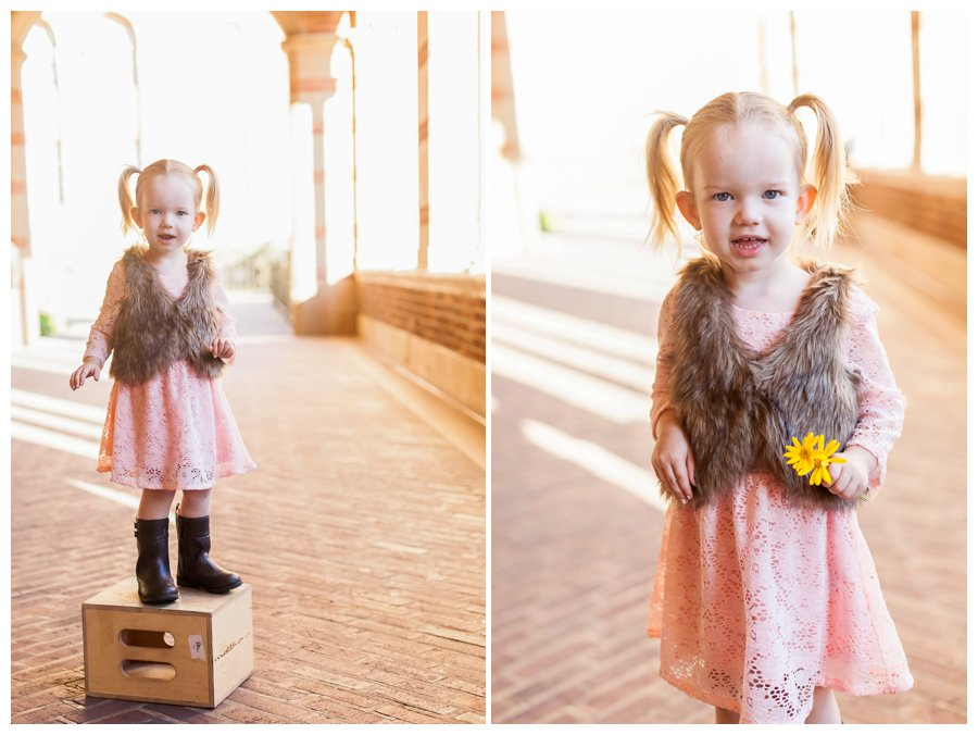 Playful little girl portraits by Just Maggie Photography -- Los Angeles Family Photographer