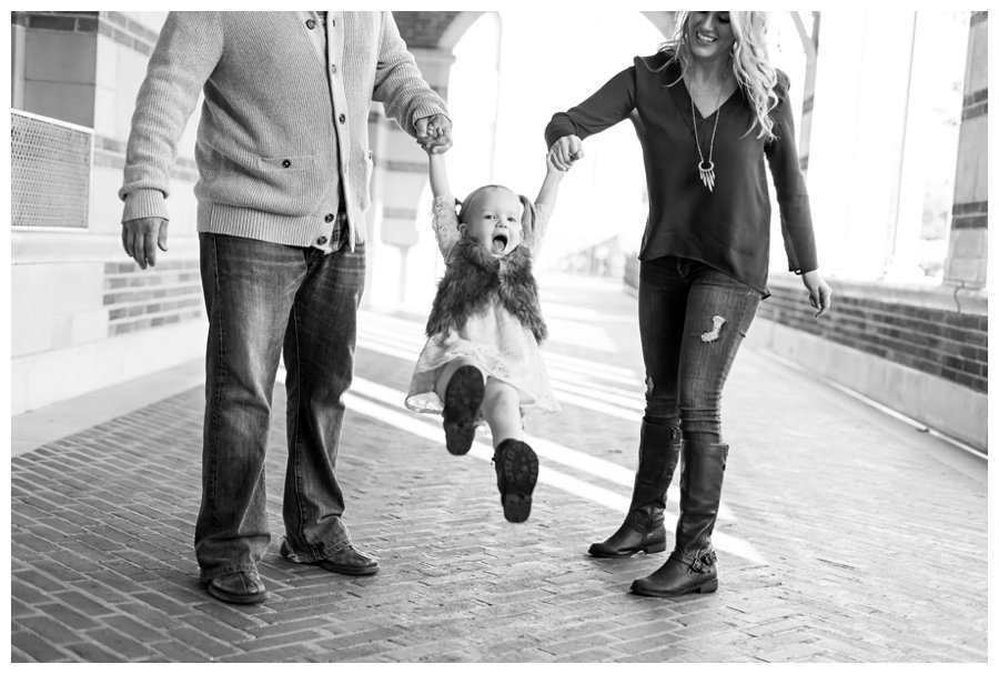 Playful family holiday portrait by Just Maggie Photography -- Los Angeles Family Photographer