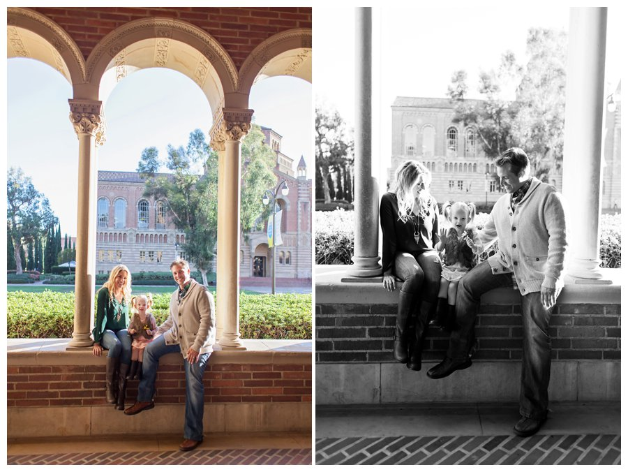 Relaxed family portraits at UCLA by Just Maggie Photography -- Los Angeles Family Photographer
