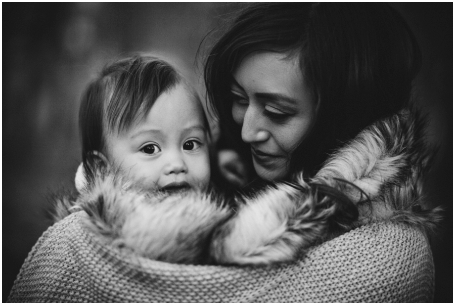 Mom and Baby in the Woods by Just Maggie Photography - Los Angeles Family Photographer