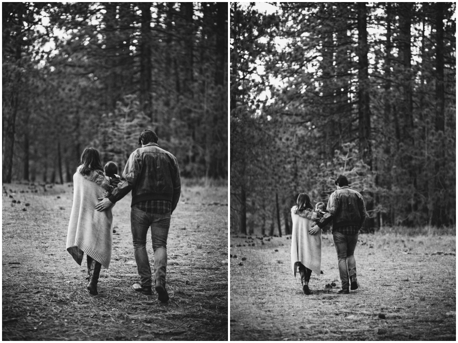 Winter Family Portraits in the Woods by Just Maggie Photography - Los Angeles Family Photographer