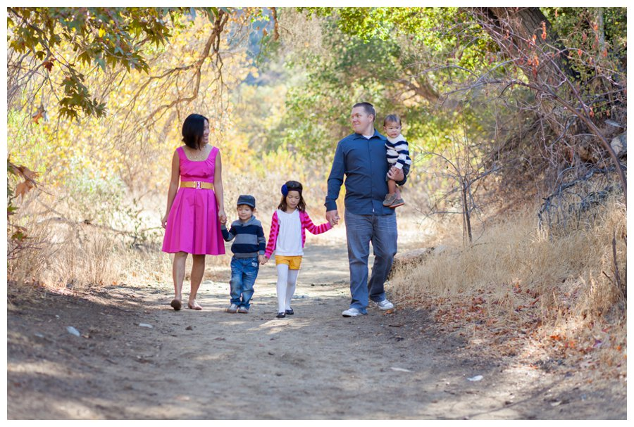 Classic family portraits in the woods by Just Maggie Photography -- Los Angeles Family Photographer