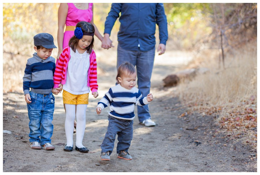 Classic family portraits outdoors by Just Maggie Photography -- Los Angeles Family Photographer