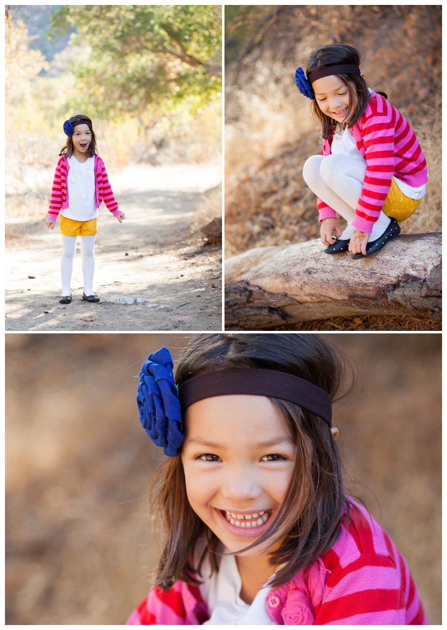 Modern young girl portraits outdoors by Just Maggie Photography -- Los Angeles Family Photographer