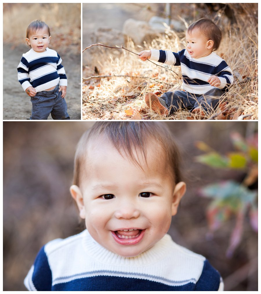 Modern baby portraits outdoors by Just Maggie Photography -- Los Angeles Family Photographer