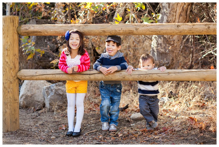 Modern sibling portrait outdoors by Just Maggie Photography -- Los Angeles Family Photographer