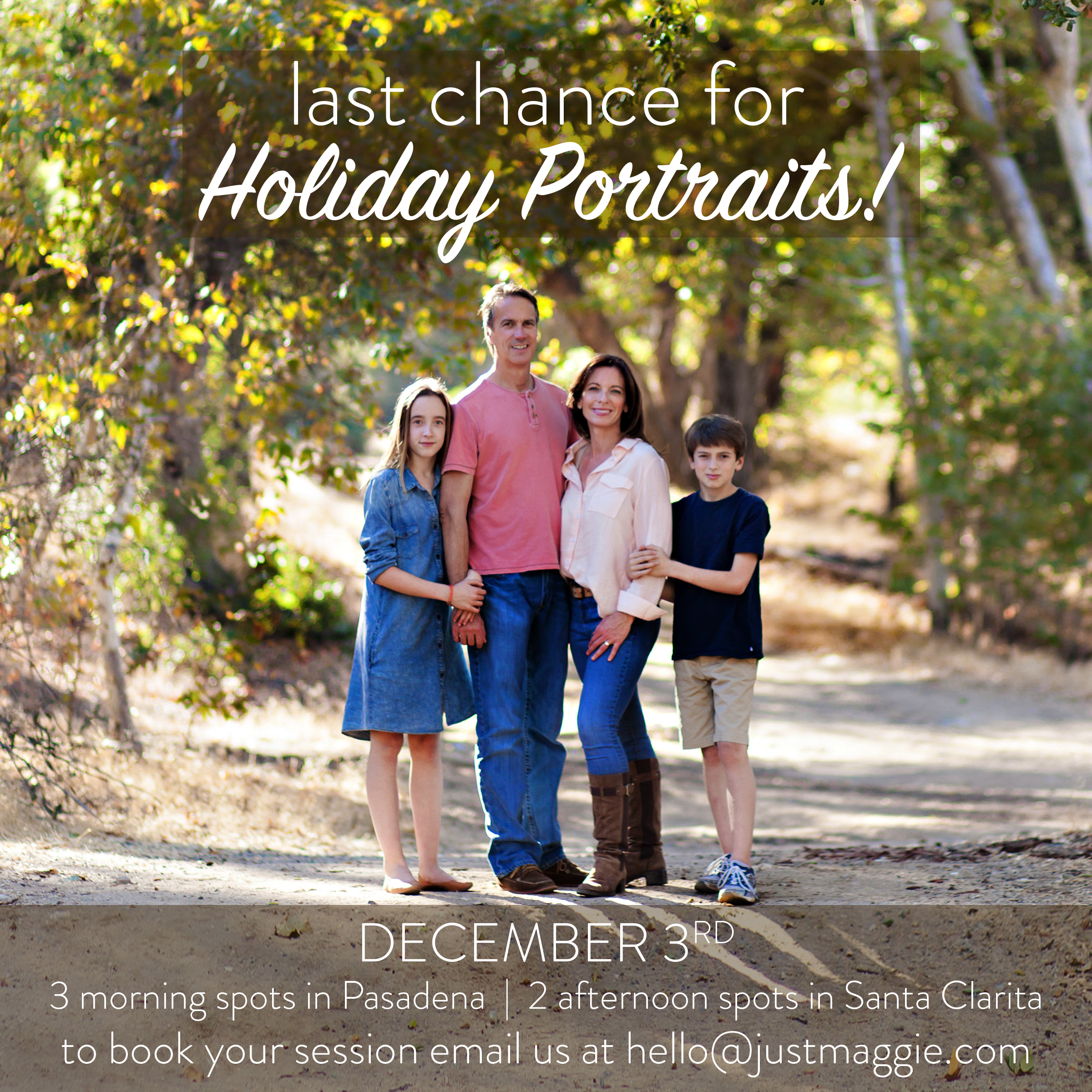 Holiday Mini Sessions 2016 with Just Maggie Photography - Los Angeles Family Photographer